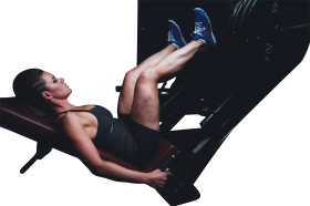 Woman doing workout PNG