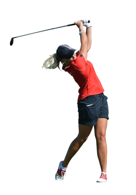 Woman play Golf PNG