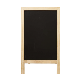 Wood Blackboard Sidewalk Sign PNG