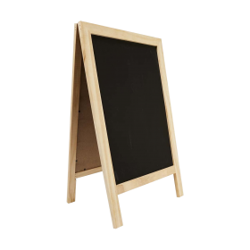 Wood Blackboard Sidewalk Sign Side PNG
