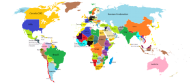 Worlp Map in with Names PNG