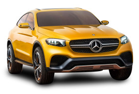 Yellow Mercedes Benz GLC Coupe Car PNG