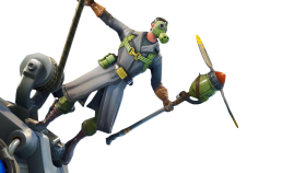 Fortnite Sky Stalker Skin with Plain