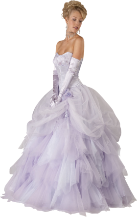 Bride in a Violet Wedding Dress