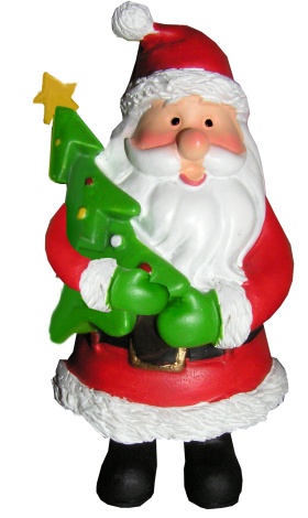 A Santa Hold Christmas tree