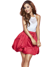 Ariana Grande in a Red Dress