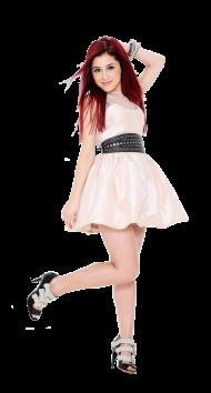 Ariana Grande In a White Rock