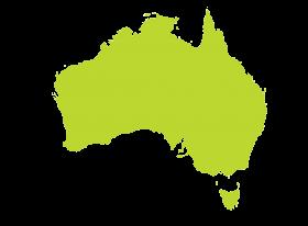 Australia Map in Green