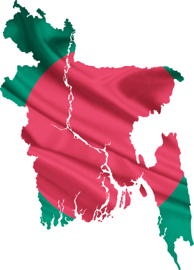 Bangladesh flag & map