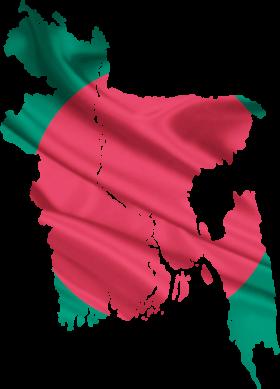Bangladesh flag&map