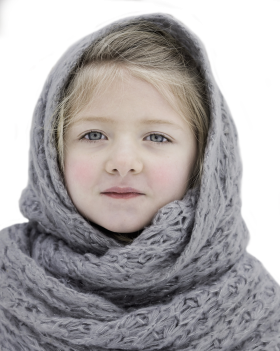 Beautiful Small Girl In Winter Cloth