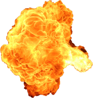 Big Explosion With Fire And Smoke