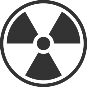 Black and White Radiation Symbol