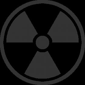 Black and White Radiation Symbol