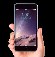 Black Apple iPhone Hand Holded