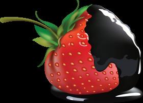 Black Chocolate on Strawberry