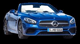 Blue Mercedes Benz SL Class Car