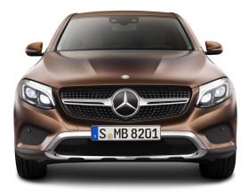 Brown Mercedes Benz GLE Coupe Front View Car