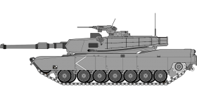 Cartoonish army Tank