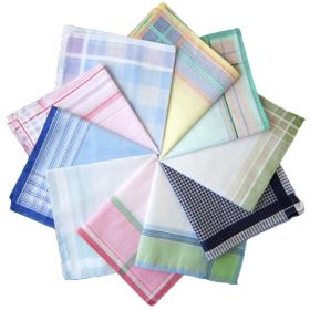 Checkered cotton handkerchief