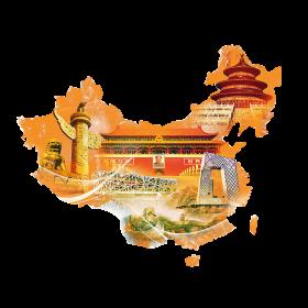 Map and Sights of China