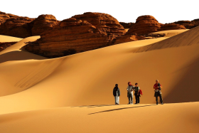desert tourists