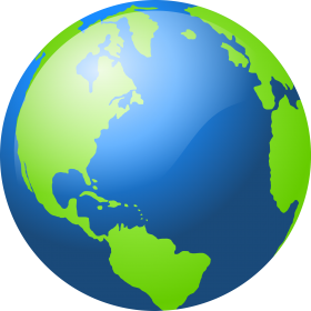 Blue and Green Globe