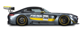 Grey Mercedes AMG GT3 Racing Car