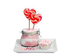 Heart candies and Marshmallow