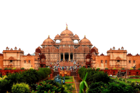 Public Building in India – People Gathered