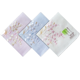 Japan Handkerchief Embroidery Cotton Textile