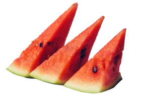 juicy sliced watermelon