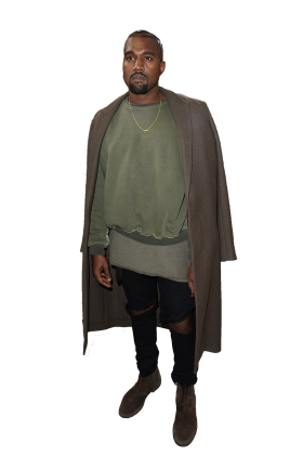 Kanye West Standing