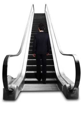 Man  on  Escalator