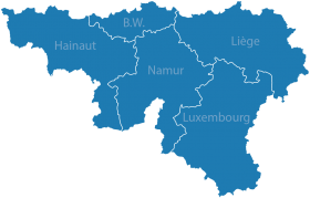 Blue Map of Belgium