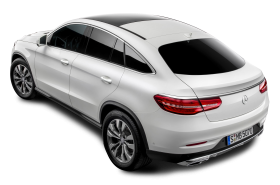Mercedes Benz Back View White Car
