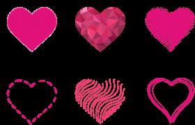 Pink Art Hearts