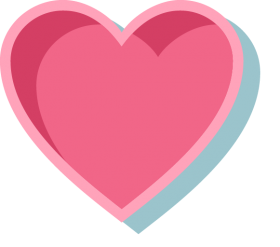 Pink Heart with Outline