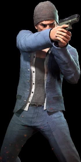 Playerunknown's Battlegrounds man with gun (pubg)