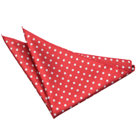 Polka Dot Dark Red Handkerchief