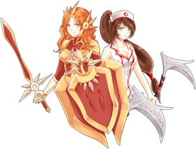 Akali and Leona League of Legends