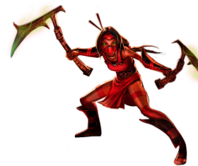 Akali Crimson skin Splashart old