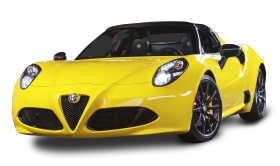 Alfa Romeo 4C Spider Yellow Car