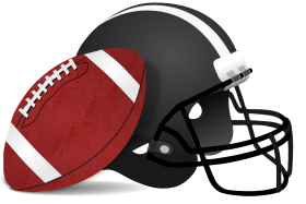 American Football Ball And Helm