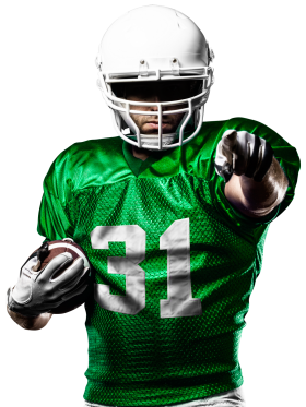American Football Player Pointing At You