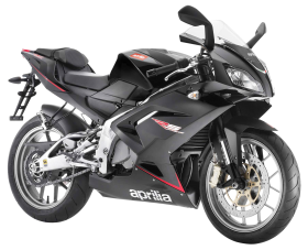 Aprilia Black Motorcycle