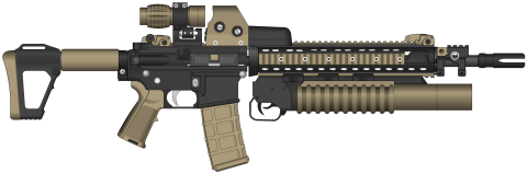 Assault Rifle Clipart