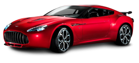 Aston Martin V12 Zagato Red Sports Car