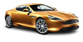 Aston Martin Virage Gold Car