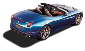 Back View of Ferrari California T Car